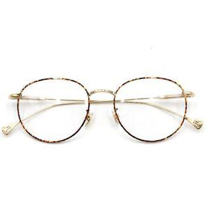 462e6c487 Image is loading Vintage-Round-Tortoise-Gold-Eyeglasses-Frame-Full-Rim-