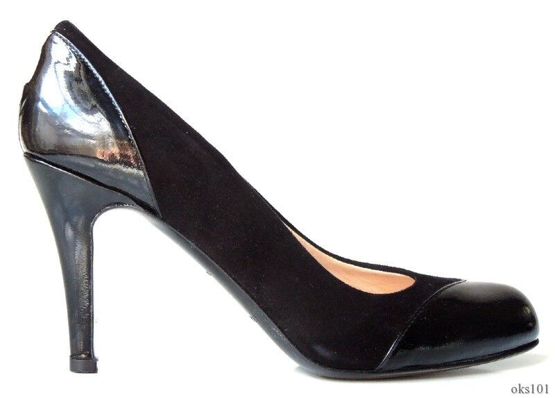 New CLAUDIA CIUTI & 039;Stefy& 039; black suede patent leather shoes  - very pretty