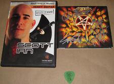 Anthrax Signed Worship Music CD, Masters of Music DVD Scott Ian,etc, USC#920