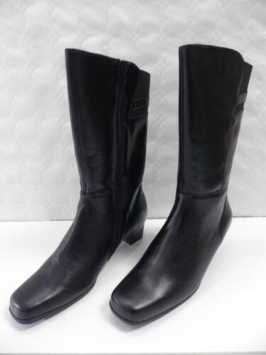 Taille Woman Noir Bottes Black Gifon Boots Neuf Femme Cuir Leather Amoia 40 nWWHwBIq