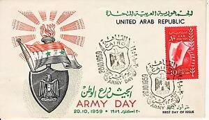 HonnêTe Premier Jour Timbre Egypte N° 466 Journee De L'armee 1959