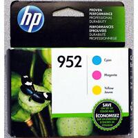 3-pack Hp Genuine 952 Color Ink (retail Box) (n9k27an) For Officejet 8702