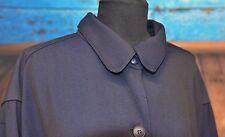 Claudie Pierlot Saks Sz XL/XXL Classic Blue Navy Button Overcoat Jacket France