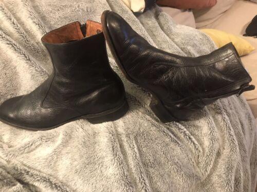 VINTAGE! Stuart Holmes Black Beatle Boots. 9.5 Men