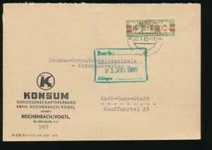 DDR Dienst B Nr. 31 II P Brief REICHENBACH 22.7.60 n KARL-MARX-STADT (55769)