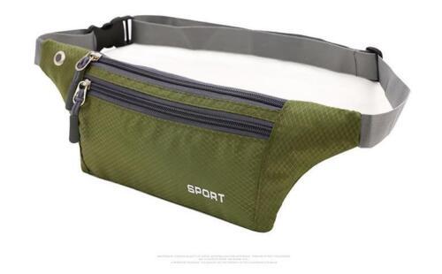 Men/'s Women Sport Waist Pack Fanny Pack Crossbody Wallet Belt Travel Phone Bags