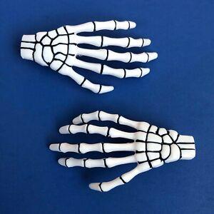 Kreepsville 666 Gothic Horror Punk Misfit Skeleton Hand Hairslides Hair Clips