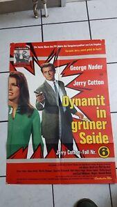 Jerry Cotton -Dynamit in grüner Seide -  ein original altes Kinoaushangplakat -