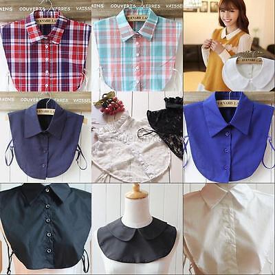 9 Styles Unisex Women Detachable Lapel Shirt Fake False Collar Choker Necklace