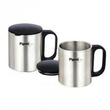 Pigeon Stainless Steel Double Coffee Mug, set of 2, 180ml, Silver