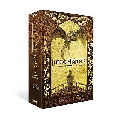 JUEGO DE TRONOS TEMPORADA 5 DVD QUINTA COMPLETA NUEVO ( SIN ABRIR )