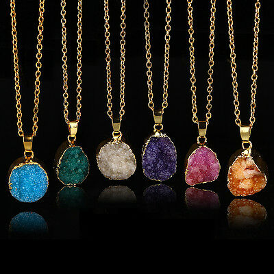 10 PCS Beautiful Druzy Natural Rose Quartz Geode Stone With Rhinestone Crystal Charms Pendants Finding For Necklace Jewelry PD136