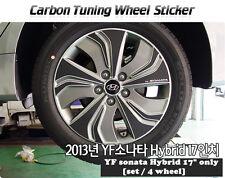 """Carbon Tuning Wheel Mask Sticker For Hyundai YF Sonata Hybrid 17"""" [2013~2014]"""