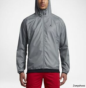 8531bc382 Nike Air Jordan Wings Lightweight Windbreaker New, Jacket Gray ...
