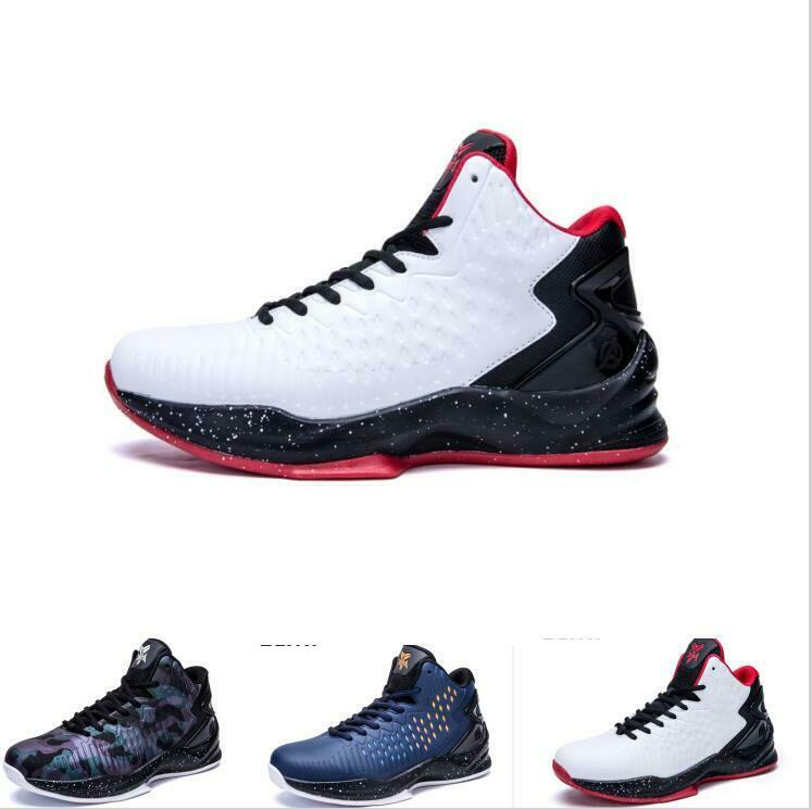 shoes Men's Lace Up Trainers Athletic High Top Basketball Breathable Sneakers Bt