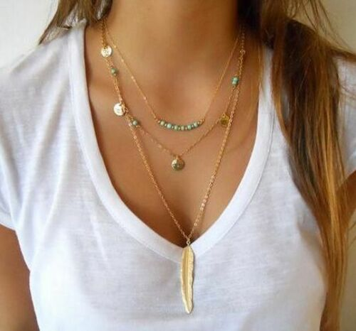 Choker Necklace Fashion Casual Personality Circle Pendant Gold Simple For Women