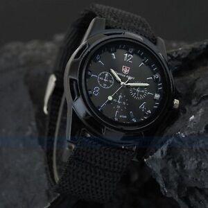 e048f8a83294 Reloj militar Hombre ejército suizo Gemius army Pulsera tejido negro ...
