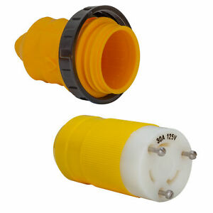 Marinco 30 Amp Weatherproof Shore Cord End Cover with Ring 103RN