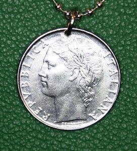 Italian 100 Lira Coin Pendant Vintage