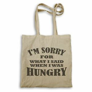 Sorry for what said was hungry Tote bag hh318r