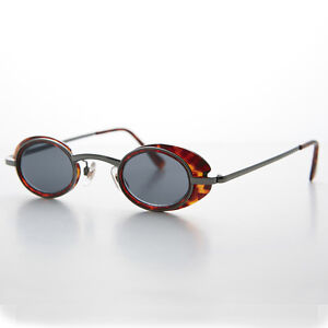 bae21d59fa0 Image is loading Small-Spectacle-Oval-Vintage-Sunglass-with-Brown-Tortoise-