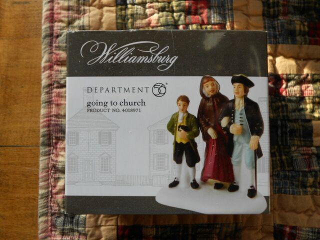 DEPT 56 WILLIAMSBURG VILLAGE Accessory GOING TO CHURCH