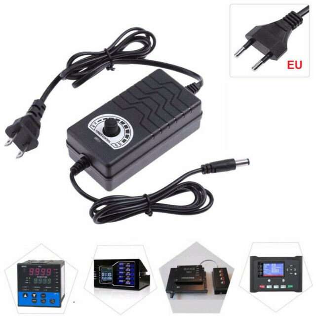 AC to DC 1-24V 2A Adjustable Volt Power Supply Motor Speed Controller Adapter