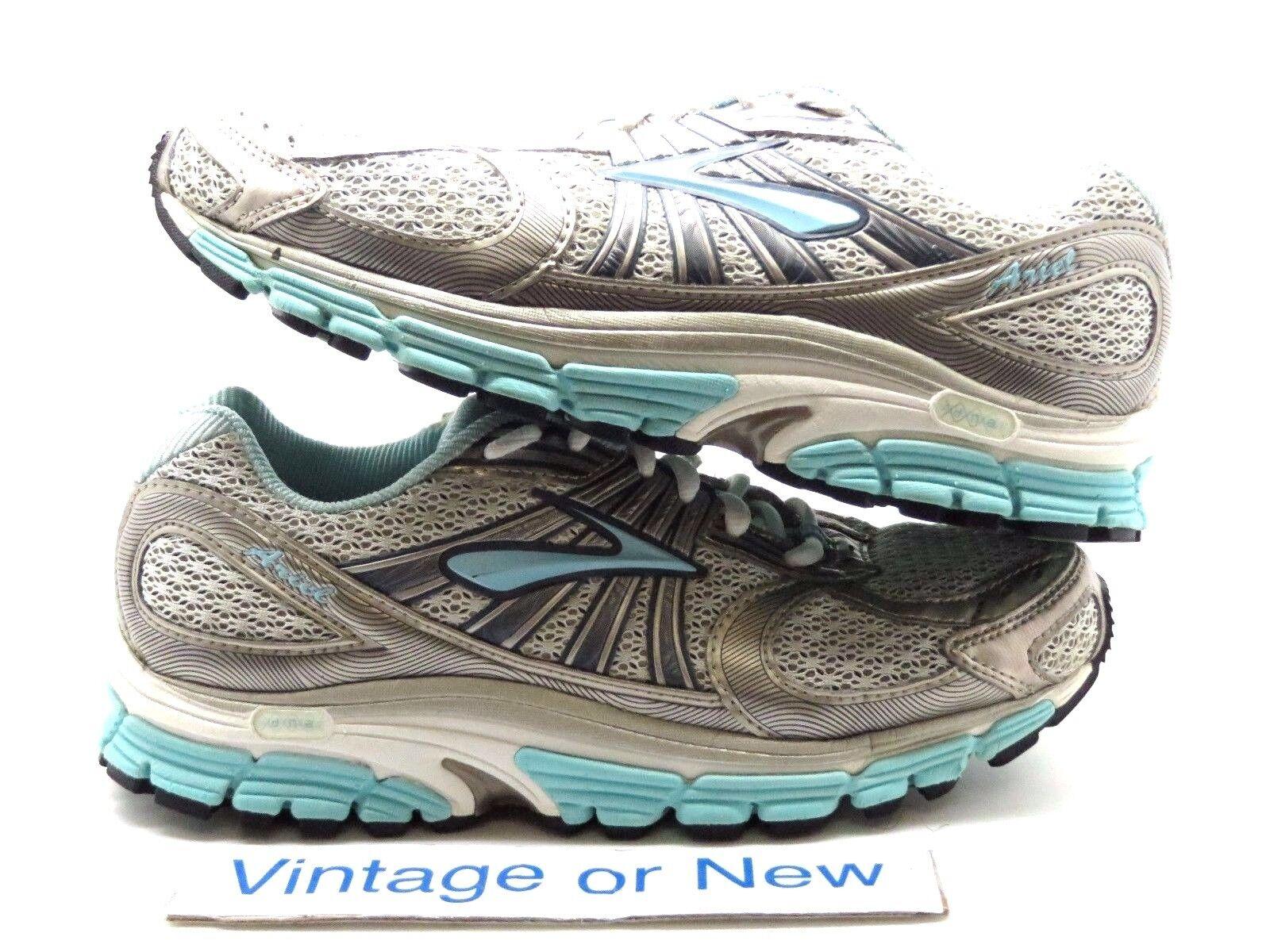 Women's Brooks Ariel Ariel Ariel 12 Silver Light bluee Running shoes sz 7 7a432f