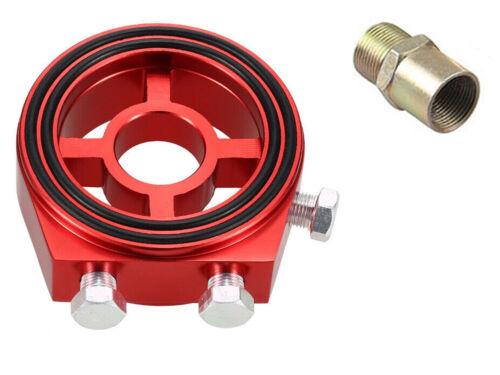BRZ GT86 Red Oil Filter Sandwich Plate Adapter 1//8npt Gauge Sensor Port