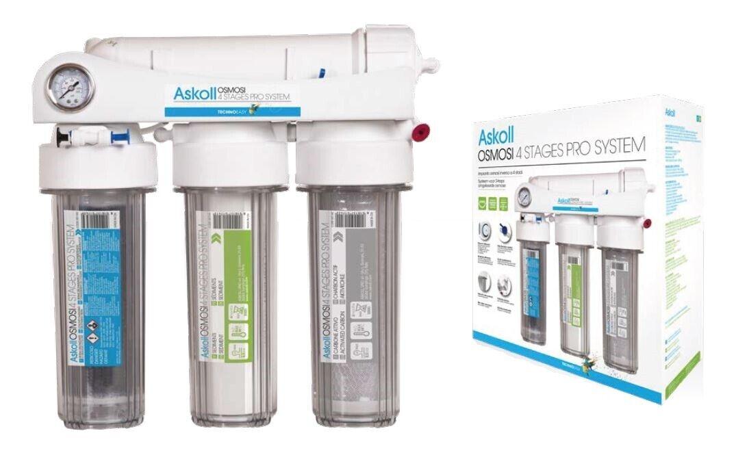 Askoll Osmosi 4 Stages Pro System 75GPD Impianto ad Osmosi a Bic ere 4 Stadi