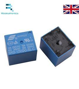 5V / 12V Mini PCB Relay SPDT 5 Pin Packs of 1, 2, 5 or 10 - Free Postage