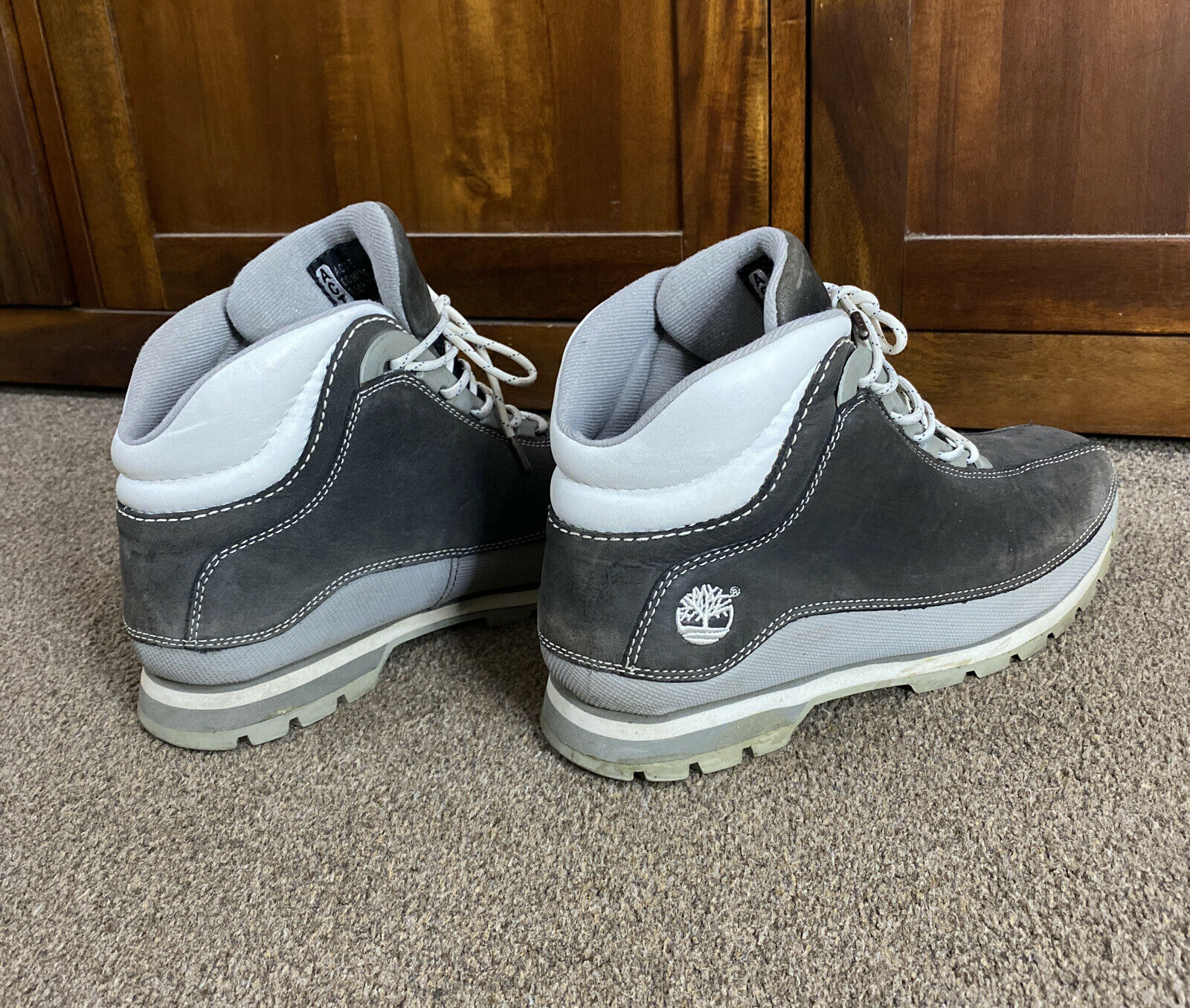 Timberland ACT Grey Suede Lace Up Walking/Hiking Boots 8M
