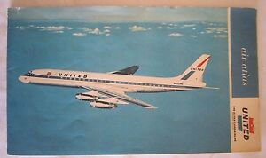 UNITED Airlines US Flight Map FOLD OUT AIR ATLAS EBay - Us map fold
