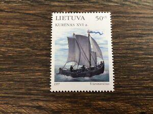 Stamps Lithuania 🇱🇹 1997 Sc571 Mi639 MNH Baltic Sailing Ship