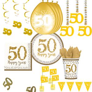 Goldhochzeit Party Dekoration Tischdeko Deko Goldene Hochzeit Gold