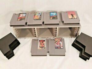 Nintendo NES game cartridges  Lot of 6 Vintage game case holder super mario bros