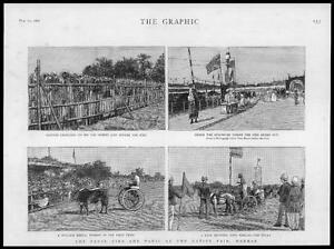 1887-Antique-Print-INDIA-Madras-Fatal-Fire-Native-Fair-Bullock-Rekla-Pony-81