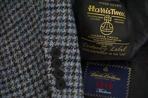 Brooks-Brothers-Madison-100th-Anniversary-Harris-Tweed-Blue-Sport-Coat-Sz-42R