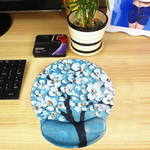 Flower-Nonslip-Mouse-Pad-With-Wrist-Rest-Support-Mat-For-Computer-PC-Laptop-Mac