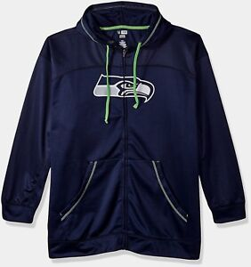 Seattle Seahawks Cool Base Full Zip Hoodie 2XL Navy Lime Green ... 76e0bc974