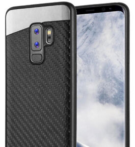 cheap for discount add8c 5f99f Details about Samsung Galaxy S9+ PLUS - Magnetic Back-Plate Black Carbon  Fiber TPU Rubber Case