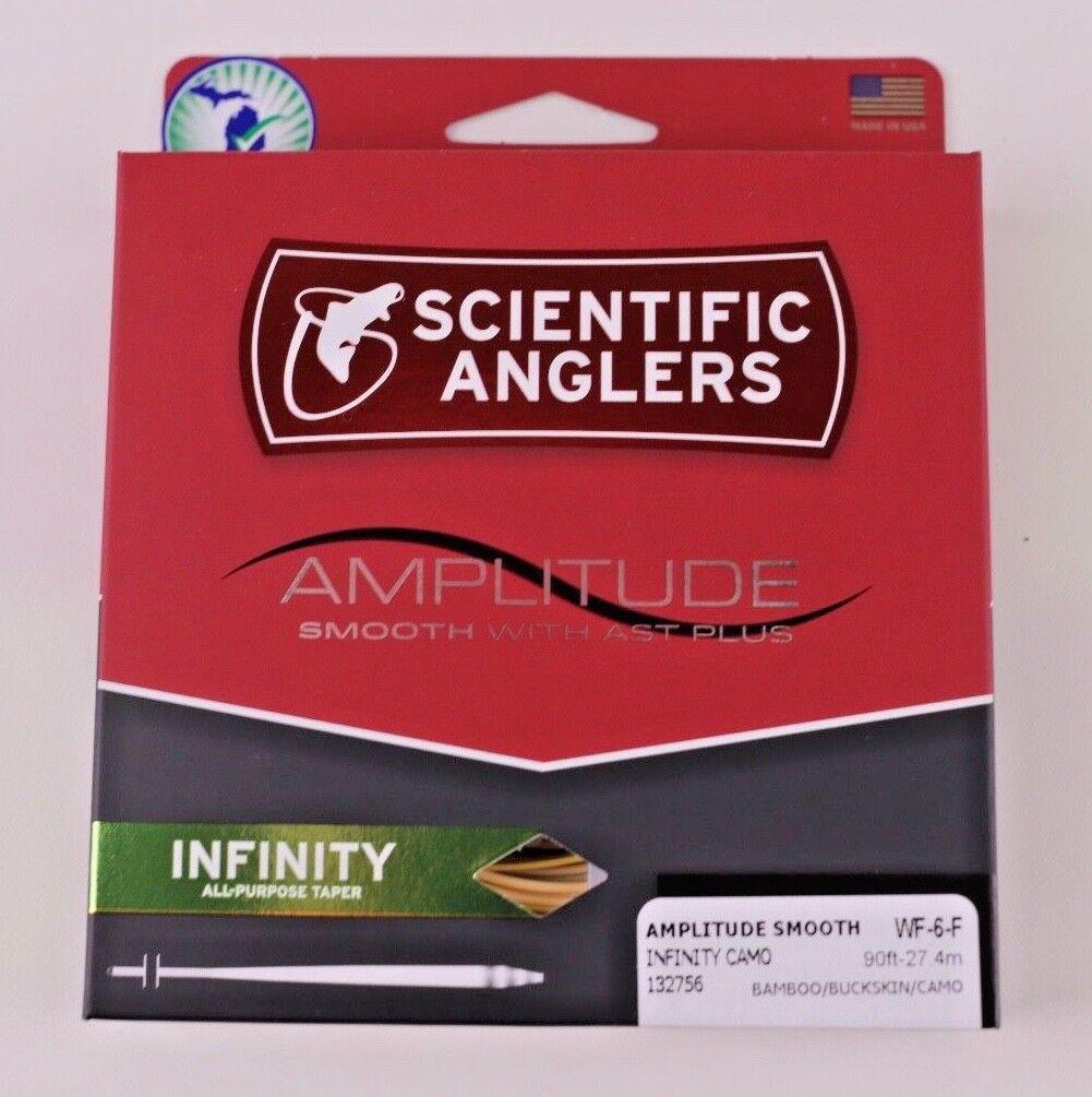Scientific Anglers amplitude lisse Infinity WF6F LIGNE MOUCHE Camo Gratuit Rapide Livraison