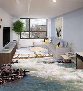 stream h lzerne br cke 3d fu boden wandgem lde foto bodenbelag tapete zuhause ebay. Black Bedroom Furniture Sets. Home Design Ideas