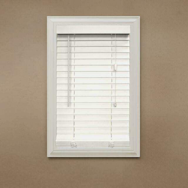 Home Decorators White 2 In Faux Wood Blind 16 1 2 In W X 64 In L Corded