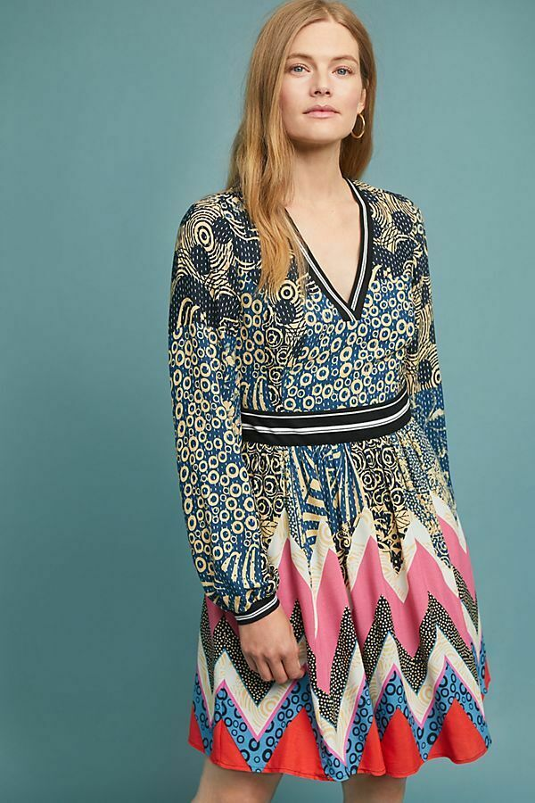 New New New Anthropologie Sporty Chevron Dress Maeve size 8 NWT Sold Out    b60476