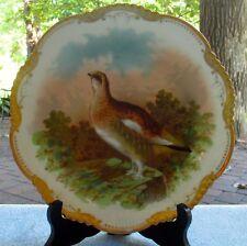 Wurttemberg Bauer & Pfeiffer German Ptarmigan Game Bird Plate Heavy Gold