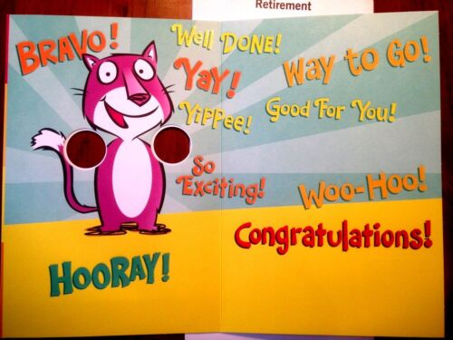 97A RETIREMENT Card Funny GOODBYE WORK RETIRE GREETING CARD 9 Choices Hallmark