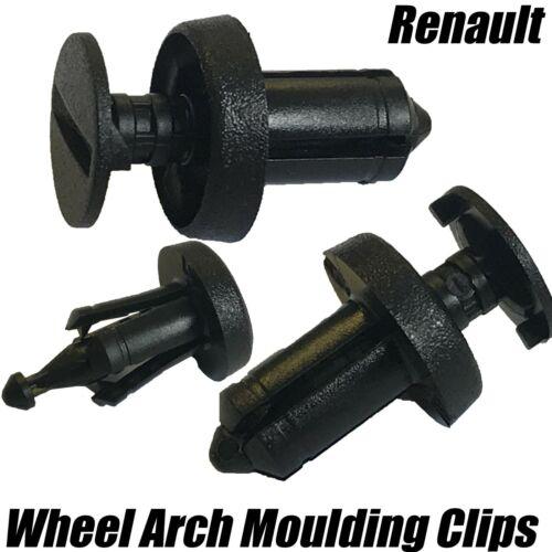 10x Renault Protector de salpicaduras Undertray sideskirt PARACHOQUES Ala CLIPS DE 6.5mm 7703072361