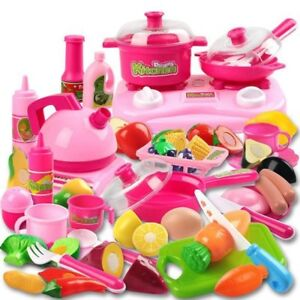 42 Piece Kitchen Cooking Set Fruit Vegetable Tea Playset Toy For Kids Play Food Ebay