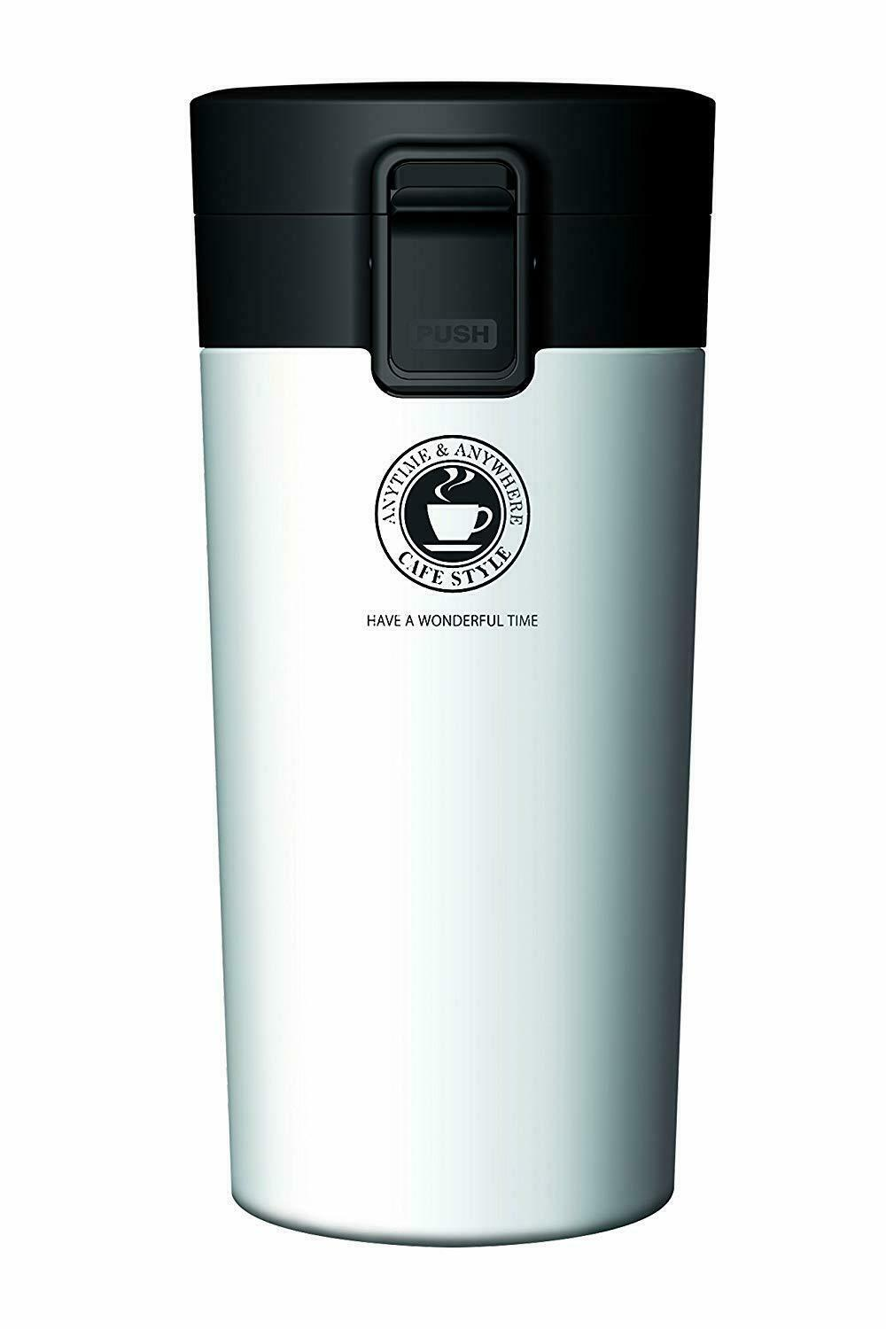 Asbel Vacuum Insulated Portable Tumbler 370ml Pearl White